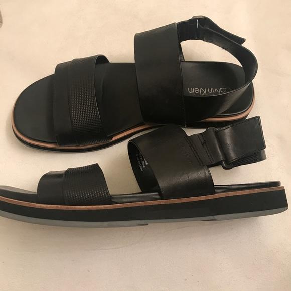 Calvin Klein Dex Leather Sandals